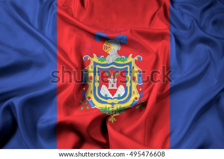 Waving Flag of Quito, Ecuador