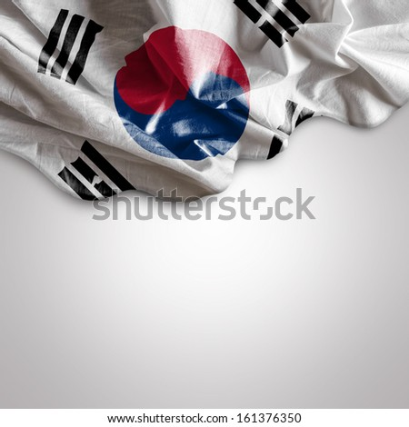 Waving flag of South Korea, Asia - stock photo