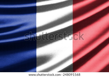 Waving flag of the France - stock photo