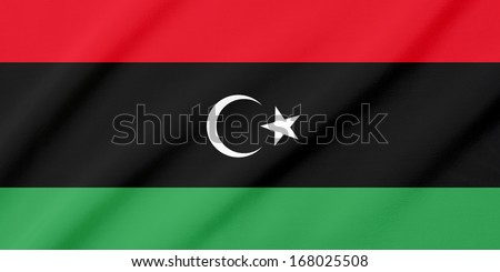 Waving flag of the Libya