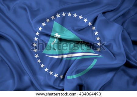 Waving Flag of the Pacific Community - stock photo