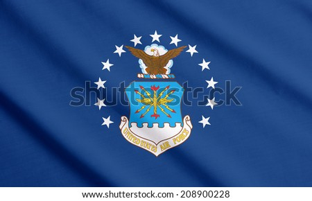 Waving flag of the US Air Force - stock photo