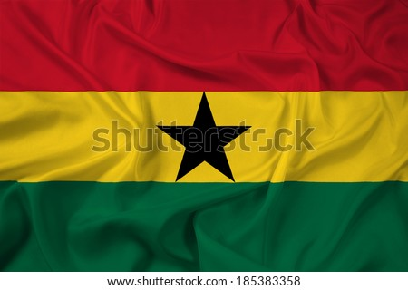 Waving Ghana Flag - stock photo