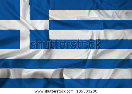 Waving Greece Flag - stock photo