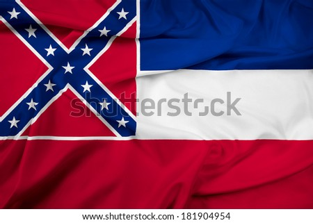 Waving Mississippi State Flag