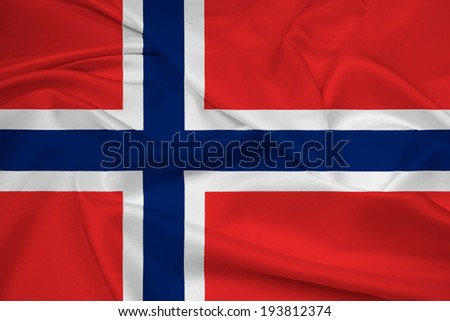 Waving Norway Flag