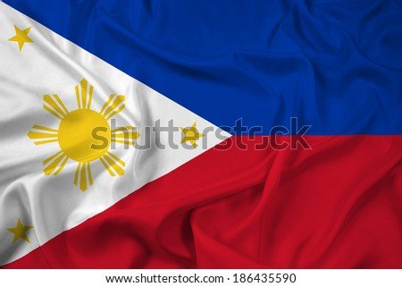 Waving Philippines Flag - stock photo