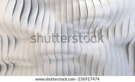 Wavy band surface, you can overlay your own image - stock photo