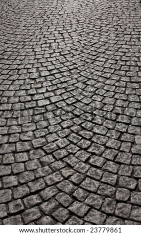 wavy brick walkway #4 - stock photo