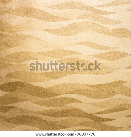 Wavy golden background/texture - stock photo