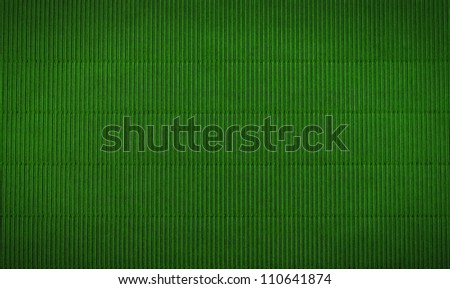 wavy green background with vertical stripes - stock photo
