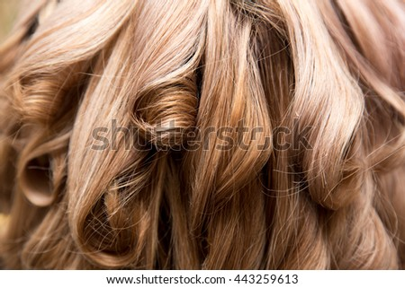wavy hair as background. texture