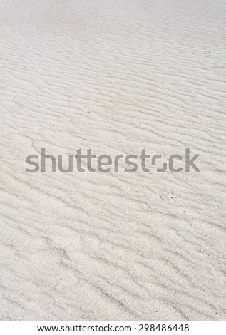 Wavy Sands at Big Bend National Park - stock photo