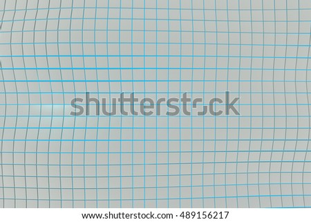 Wavy surface made of white cubes with glowing background, abstract background, 3d render illustration
