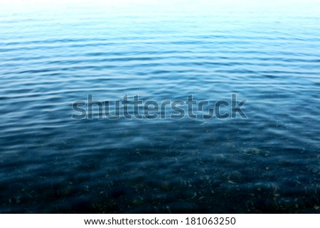 Wavy surface of sea water. Texture of background - stock photo