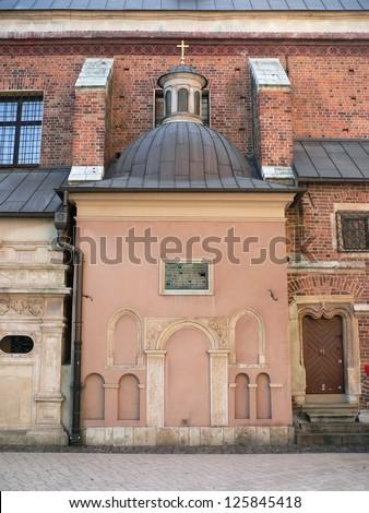 Wawel castle courtyard. Krakow. - stock photo