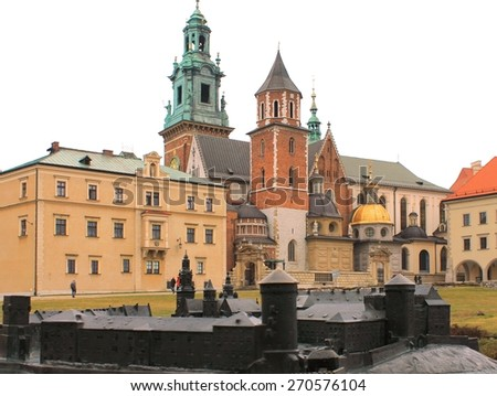 Wawel Castle in Krakow. - stock photo