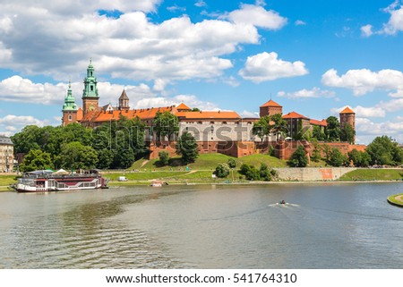 Wawel royal castle in Krakow in a beautiful summer day, Poland