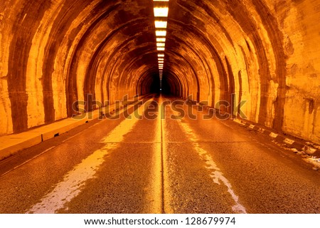 Wawona Tunnel, Yosemite National Park, California - stock photo