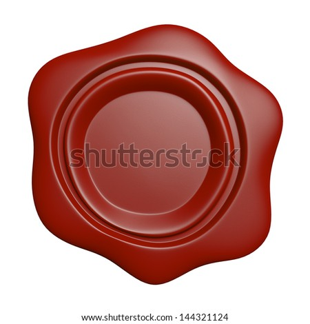 Wax seal - isolated on white background - stock photo