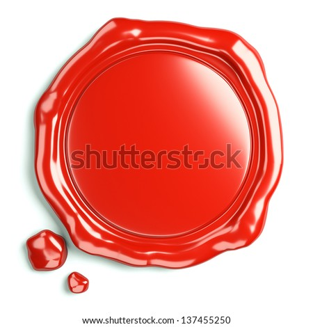 wax seal of guarantee - stock photo