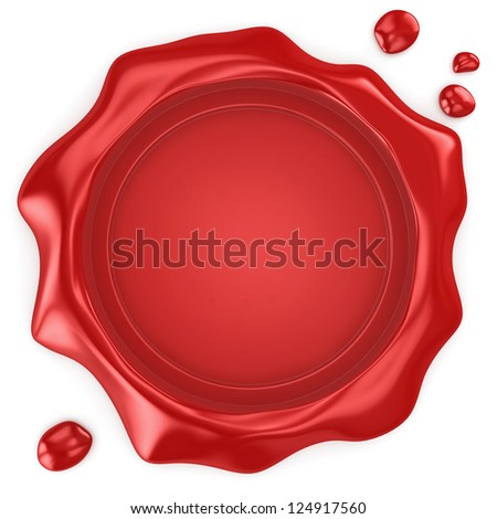 Wax seal with blank field - stock photo