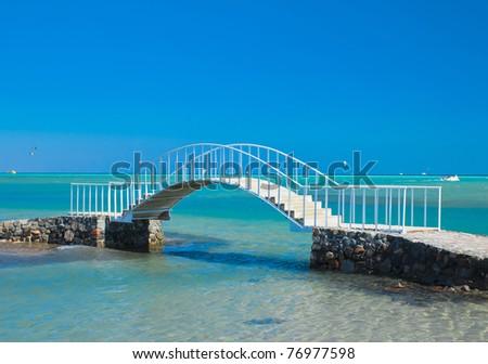 Way across the water - stock photo