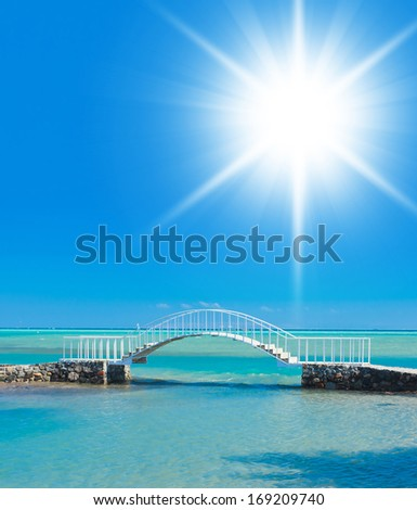 Way across the water Daytime Peace  - stock photo