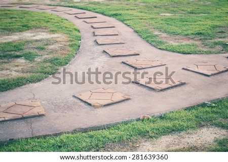 way in the park. - stock photo