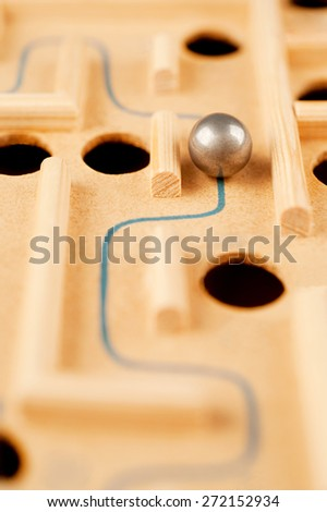 way through the maze, game of skill - stock photo