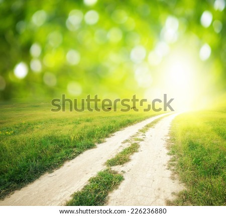 Way to God. Conceptual design. - stock photo