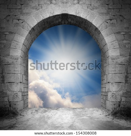 Way to heaven. Heaven gate. - stock photo