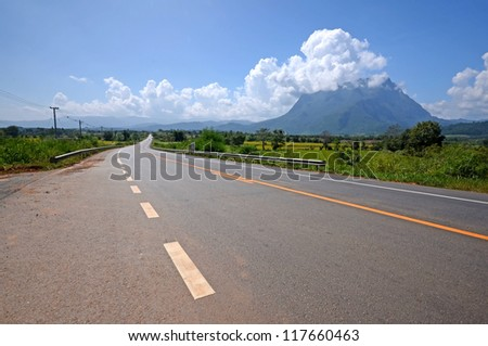 way to mountain in the country side nature background chiangmai Thailand