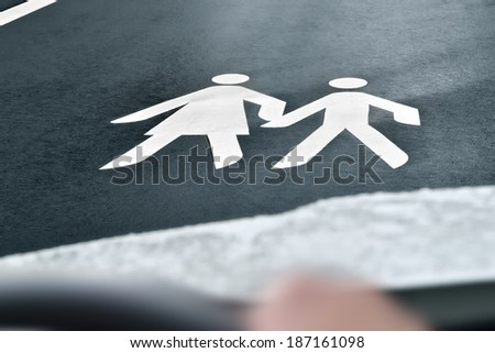 way to school  - stock photo