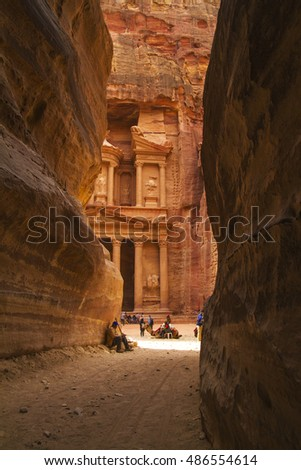 Way to the Treasury, Petra, Jordan