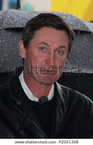 Wayne Gretzky  at Bryan Adams Star on the Walk of Fame Ceremony, Hollywood , CA. 03-21-11 - stock photo