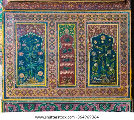 Wazir Khan Mosque Lahore - stock photo