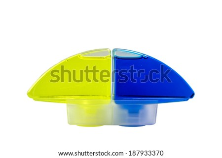 WC fresh liquid toilet cleaner refill, isolated on white with clipping path - stock photo