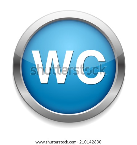 wc icon - stock photo
