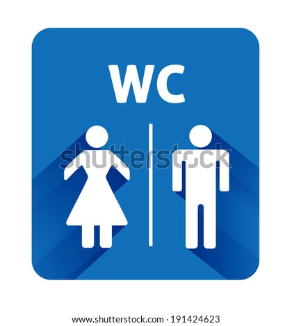 WC sign icon. Toilet symbol. Male and Female