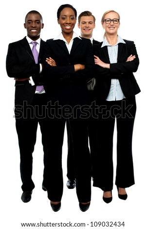 We are a team of professionals. How can we assist you? - stock photo