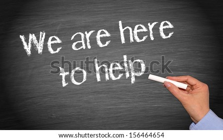 We are here to help - stock photo