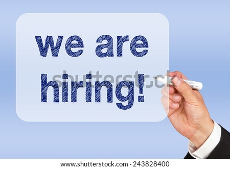 we are hiring - Recruitment Concept - stock photo