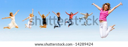 """we are the champions! -  of  """"Groups of people"""" series in my portfolio - stock photo"""