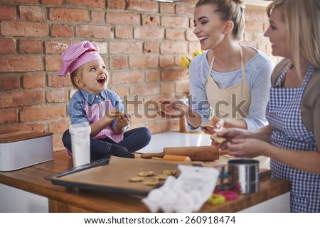 We bake together us a good team - stock photo