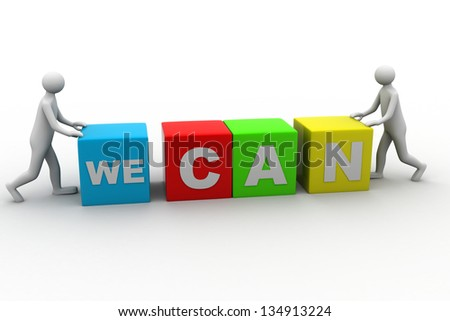 We can - stock photo