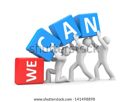 We can! - stock photo