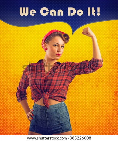 We can do it - stock photo
