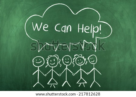 We Can Help - stock photo