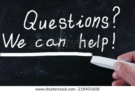 we can help concept - stock photo